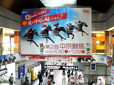 第2回中京競馬開催の巨大な垂れ幕
