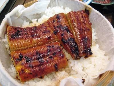 鰻の蒲焼鰻丼風