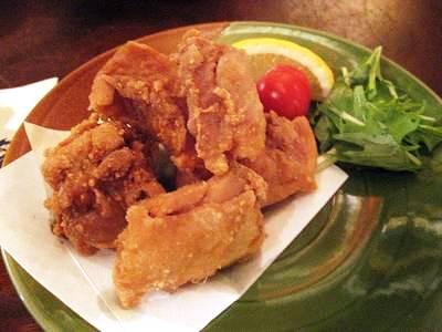 日南鶏の唐揚げ ニンニク味噌添え
