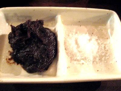 塩とニンニク味噌