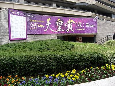 天皇賞(秋)の東京競馬場内