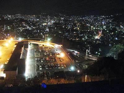 ふくの湯駐車場から長崎夜景を望む