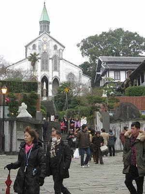 大浦天主堂の前