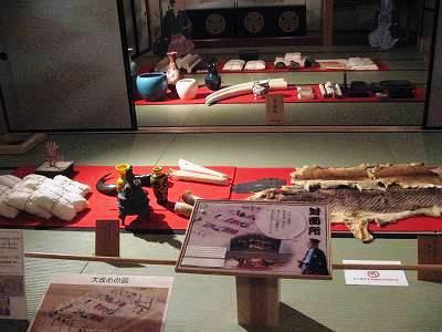 長崎奉行所エリアの展示