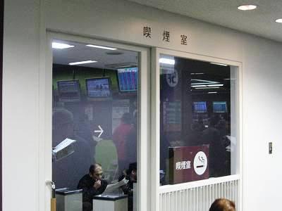 WINS名古屋の喫煙室