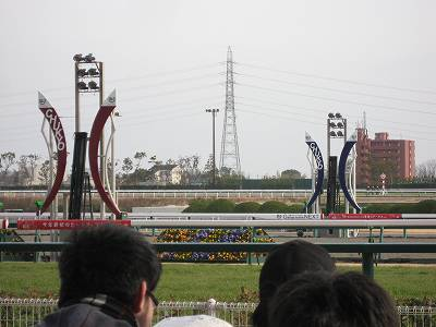 中京競馬場のゴール板