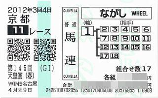 天皇賞(春)馬券2