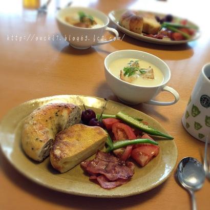 ビシソワーズと朝ごはん1