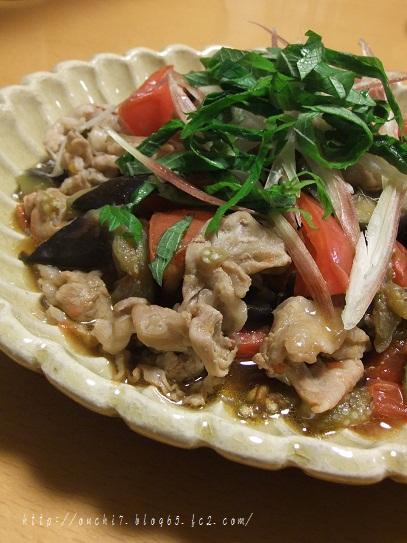 豚肉と茄子トマト炒め
