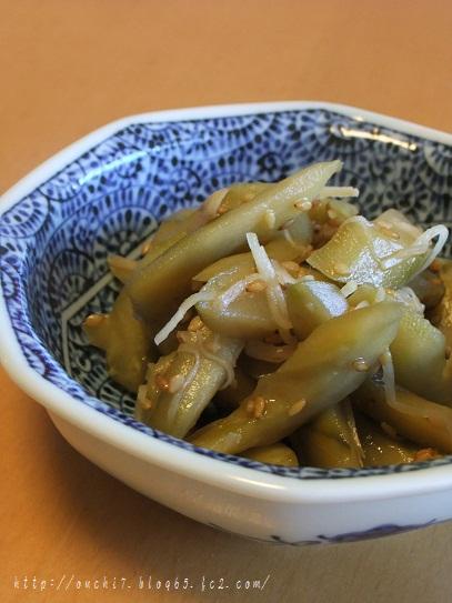 キュウリ生姜炒め