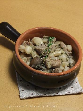 豚肉と白いんげん豆煮込み2