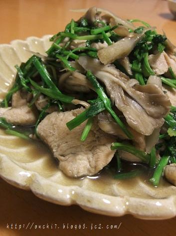 鶏セリ炒め