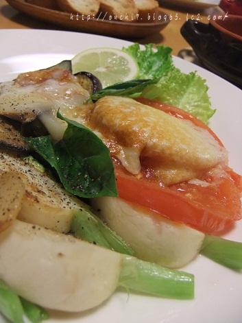 焼き野菜とカチョカバロ