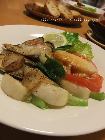 焼き野菜とカチョカバロ2