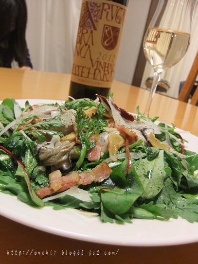 牡蠣の温サラダ2