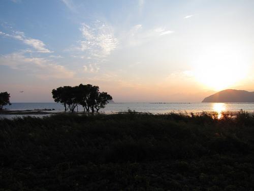 名古屋-敦賀ツーリング・琵琶湖と夕日2