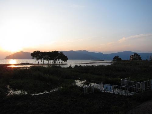 名古屋-敦賀ツーリング・琵琶湖と夕日3