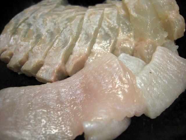 ヒラメ刺身