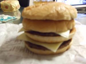 ハンバーガー重ね