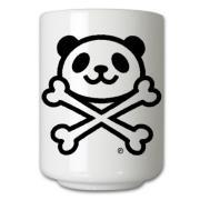 パンダどくろマーク 湯のみ茶碗