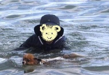 一緒に泳ごうね