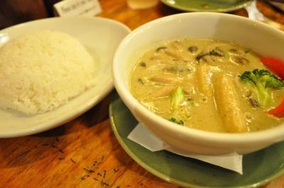 Monsoon Cafeでランチ グリーンカレー