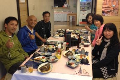 アニマの里 初日お食事 永井さんとお友達になりました