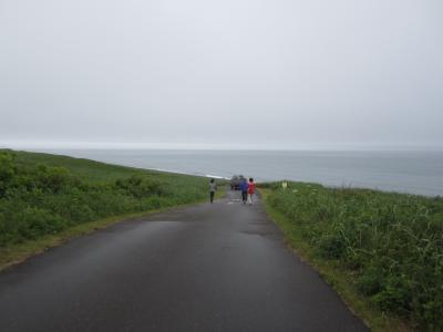 オホーツク海が見えた
