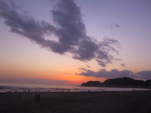 材木座 夕日