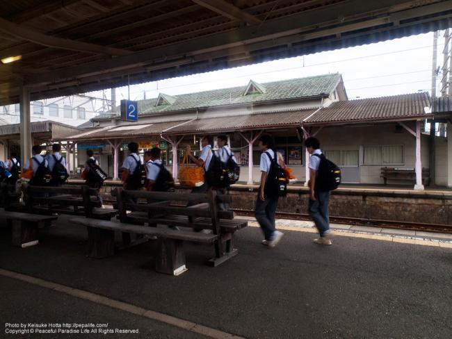 紀勢本線(きのくに線)の車窓の景色(南部駅)