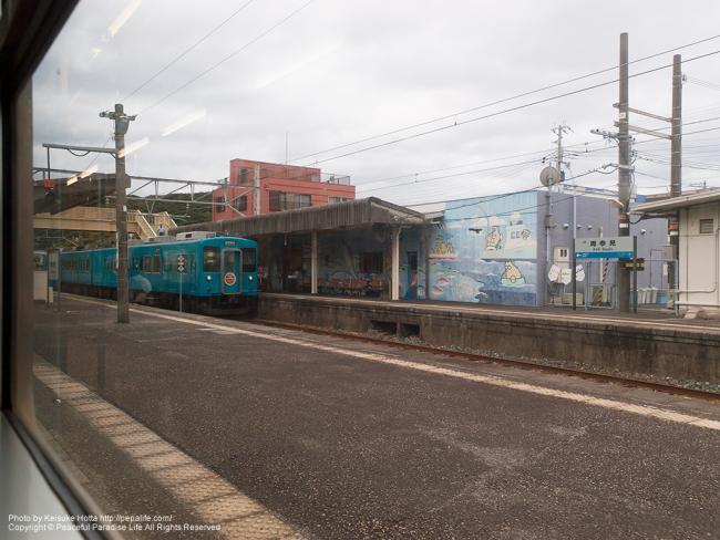 紀勢本線(きのくに線)の車窓の景色(周参見駅)