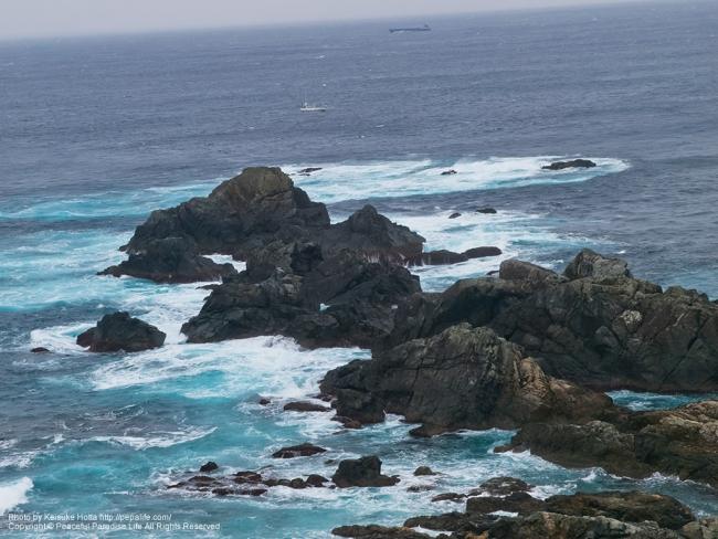 潮岬灯台の展望台から見た景色