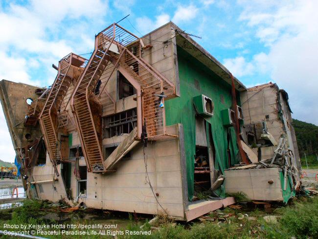 女川町の被災地