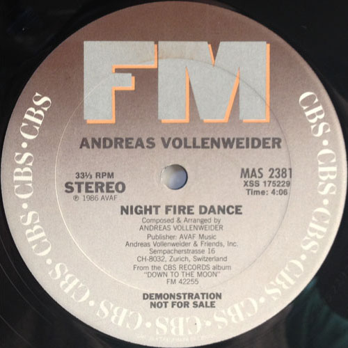 ANDREAS VOLLENWEIDER_NIGHT FIRE DANCE_201209