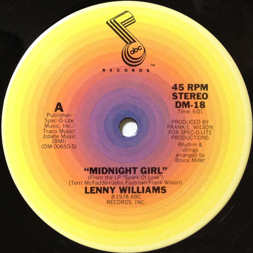 LENNY WILLIAMS_MIDNIGHT GIRL_201209