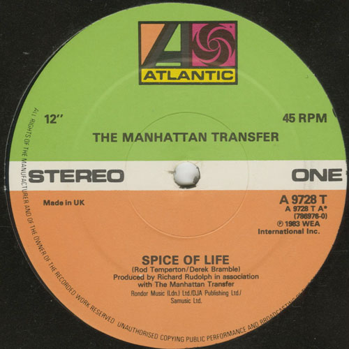 MANHATTAN TRANSFER_SPICE OF LIFE _201211