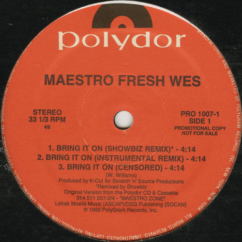 MAESTRO FRESH WES_BRING IT ON (SHOWBIZ REMIX) ( PROMO )_201211
