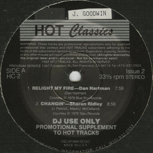 SHARON RIDLEY_CHANGIN ( PROMO )_HOT TRACKS_201211