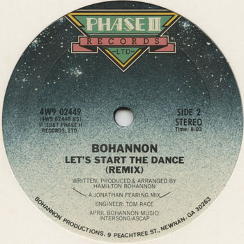 DG_BOHANNON_LETS START THE DANCE REMIX_201306