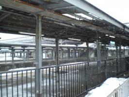 冬の秋田駅