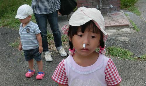 鼻血が・・・
