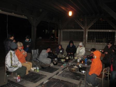 プレーパーク極寒キャンプ