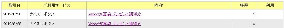 Yahoo!ポイントの通帳