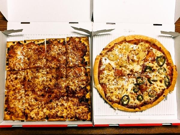 ピザハットのピザ2枚