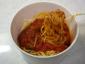 ナスと熟成ベーコンのガーリックトマトパスタ