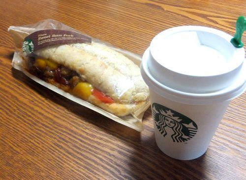 ドリップコーヒーとサンドイッチ