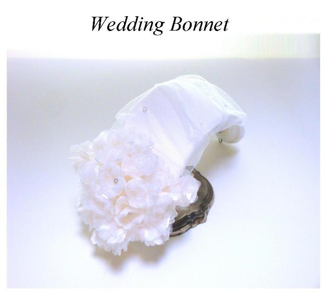 ボンネ ふわふわ絹の小花 0