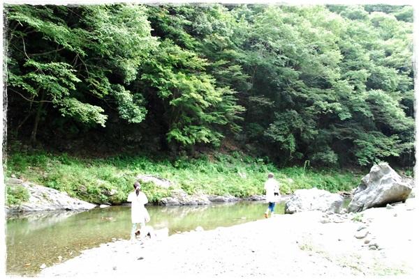 丹生川にて