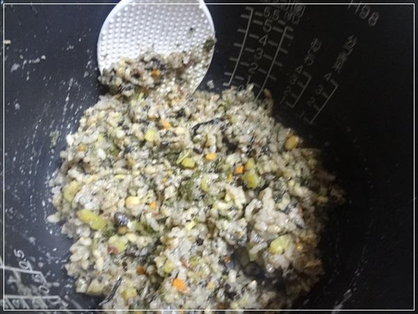 炊き上がり(10蒸らした後)