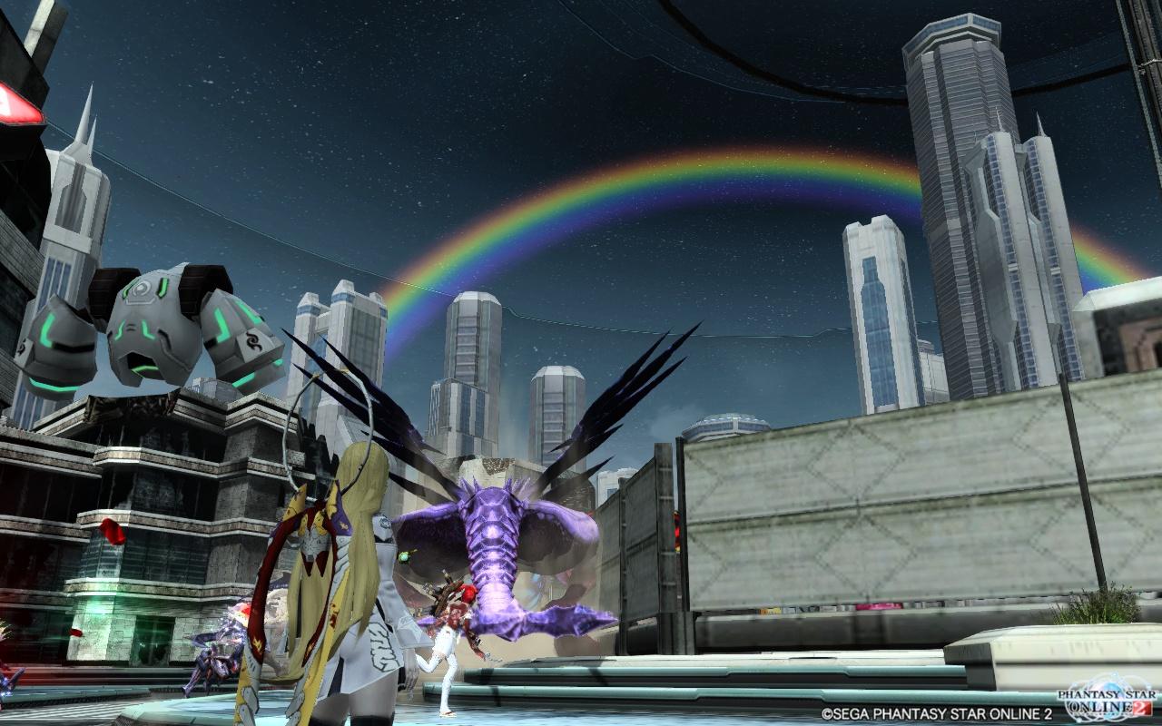 ドラゴンと虹